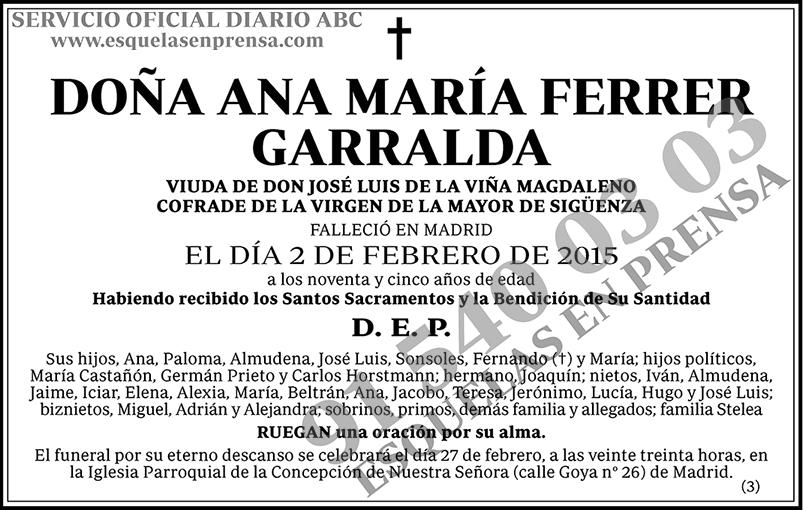 Ana María Ferrer Garralda